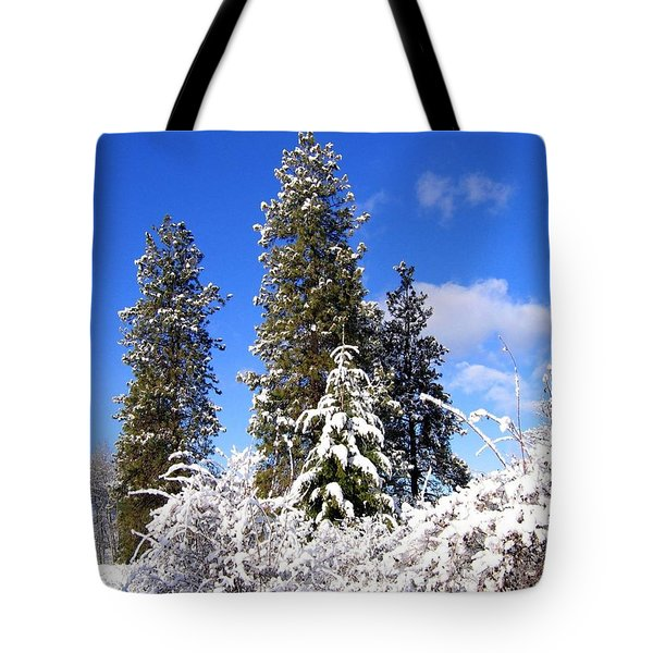 Tote Bag featuring the photograph Fresh Winter Solitude by Will Borden