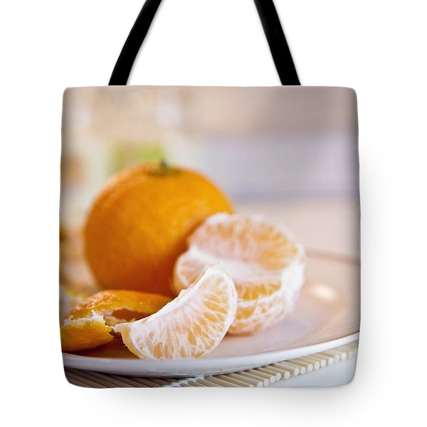 Tote Bag featuring the photograph Freshly Peeled Citrus by Cindy Garber Iverson