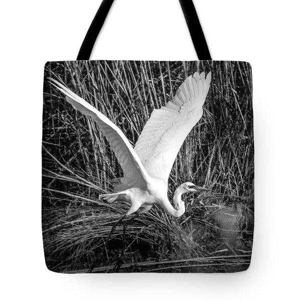 Freshwater City Egret Tote Bag