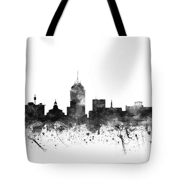 Fresno California Cityscape 02bw Tote Bag