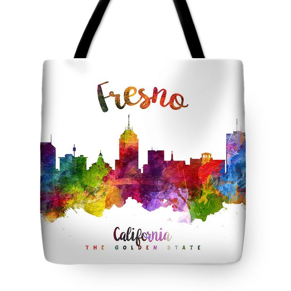 Fresno California Skyline 23 Tote Bag