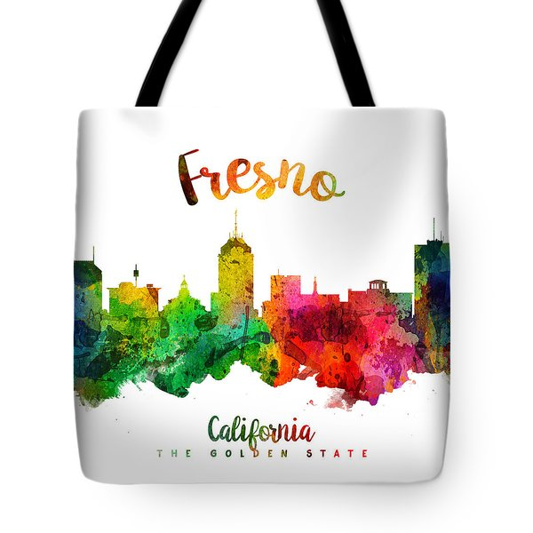 Fresno California Skyline 24 Tote Bag