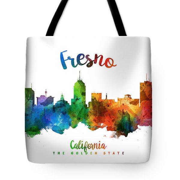 Fresno California Skyline 25 Tote Bag