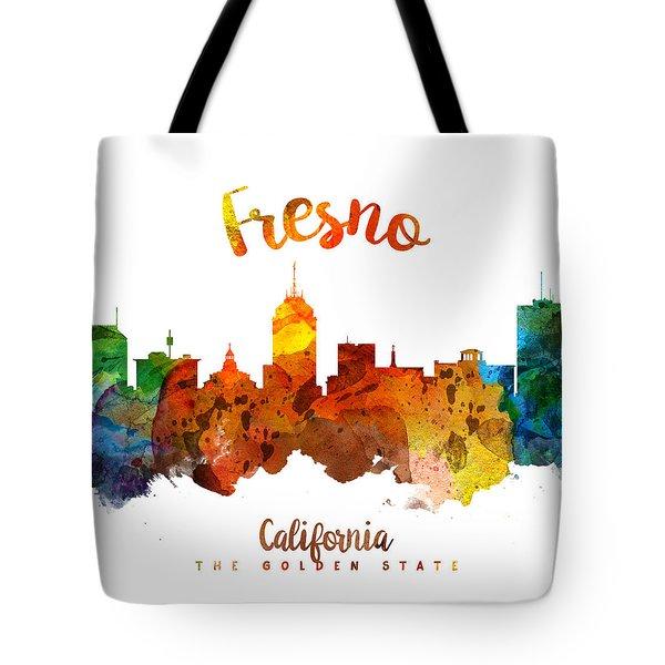 Fresno California Skyline 26 Tote Bag