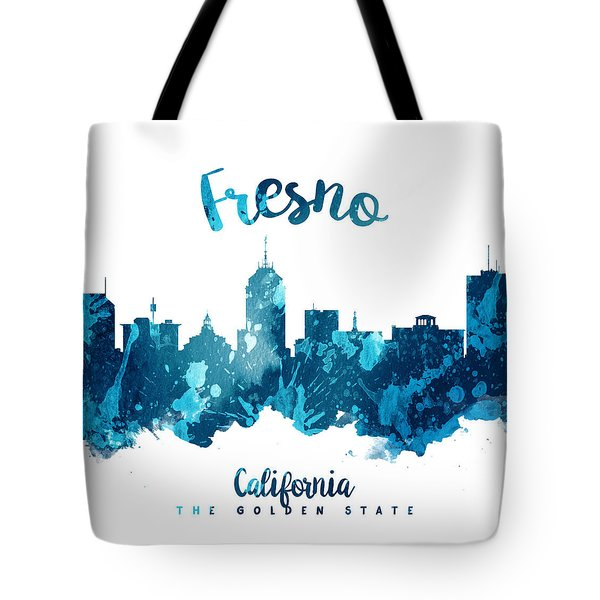 Fresno California Skyline 27 Tote Bag