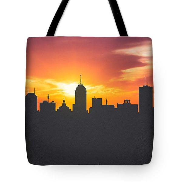 Fresno California Sunset Skyline 01 Tote Bag