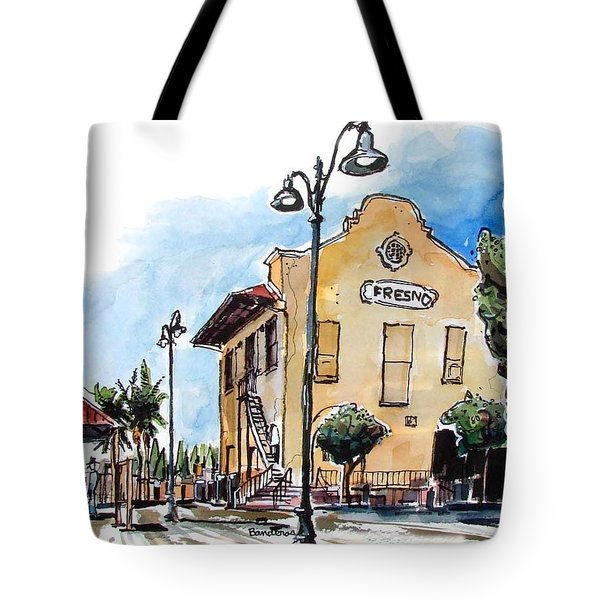 Old Fresno Depot Tote Bag