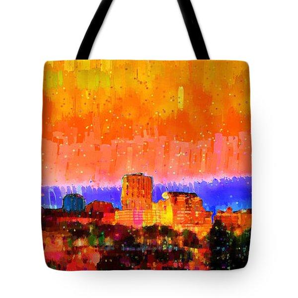 Fresno Skyline 105 - Da Tote Bag