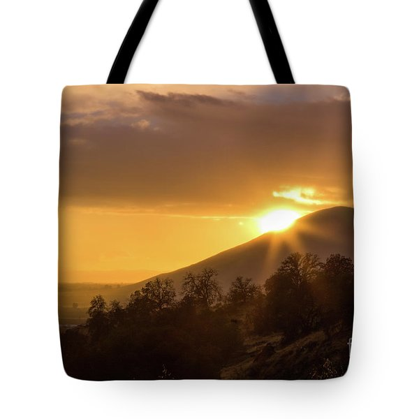 Tote Bag featuring the photograph Fresno Sunset  by Vincent Bonafede