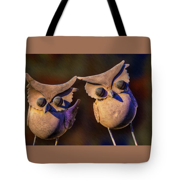 Tote Bag featuring the photograph Frick And Frack by Paul Wear
