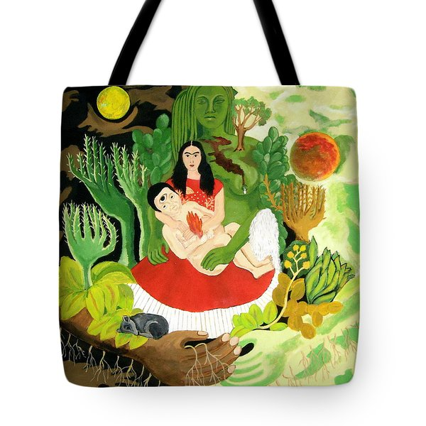 Frida And Diego Tote Bag by Stephanie Moore