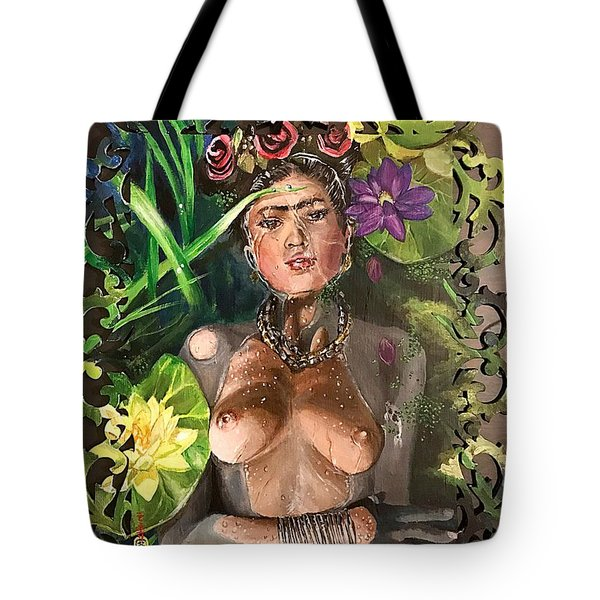 Tote Bag featuring the painting Frida De Ophelia by Baroquen Krafts