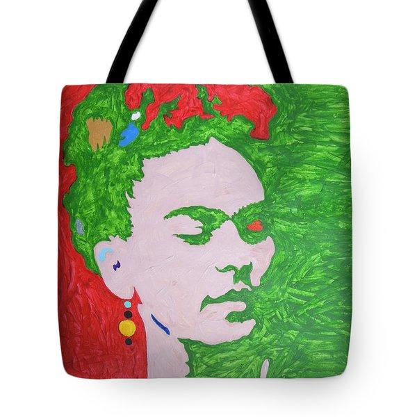 Frida Kahlo Tote Bag by Stormm Bradshaw