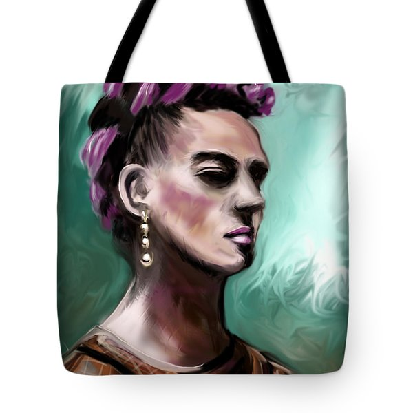 Tote Bag featuring the painting Frida My Way by Jean Pacheco Ravinski