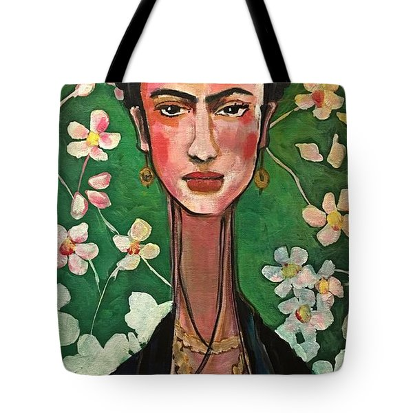 Tote Bag featuring the painting Frida You Are My Vogue by Laurie Maves ART