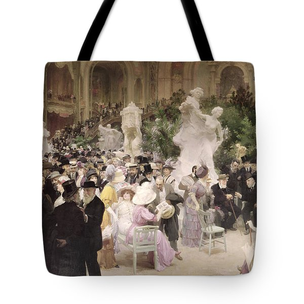 Friday At The Salon Tote Bag by Jules Alexandre Grun