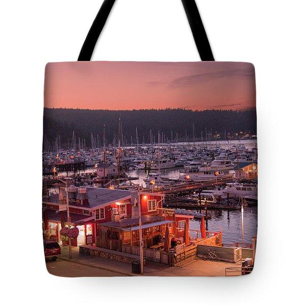 Friday Harbor Good Evening Tote Bag
