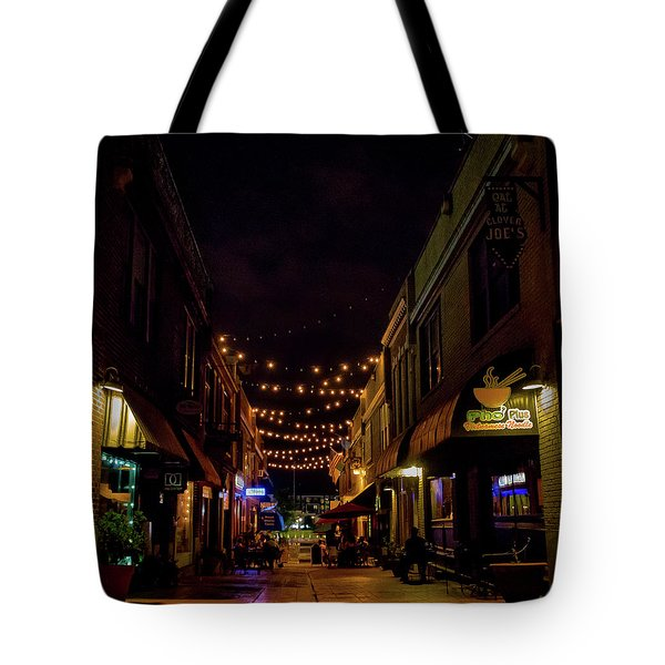 Friday Night Alley Tote Bag
