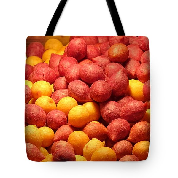 Tote Bag featuring the photograph Fried Sweet Potato Balls by Yali Shi
