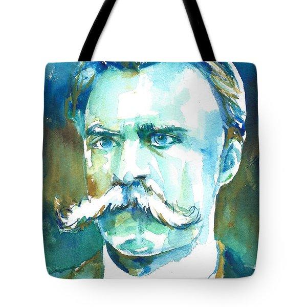 Friedrich Nietzsche Watercolor Portrait.1 Tote Bag
