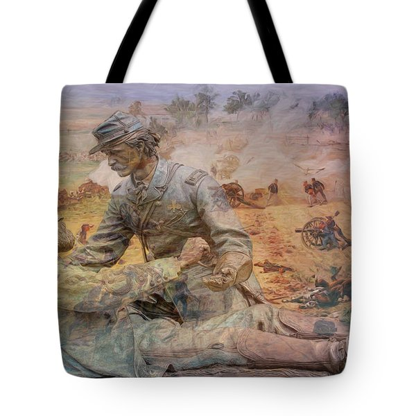 Friend To Friend Monument Gettysburg Battlefield Tote Bag by Randy Steele