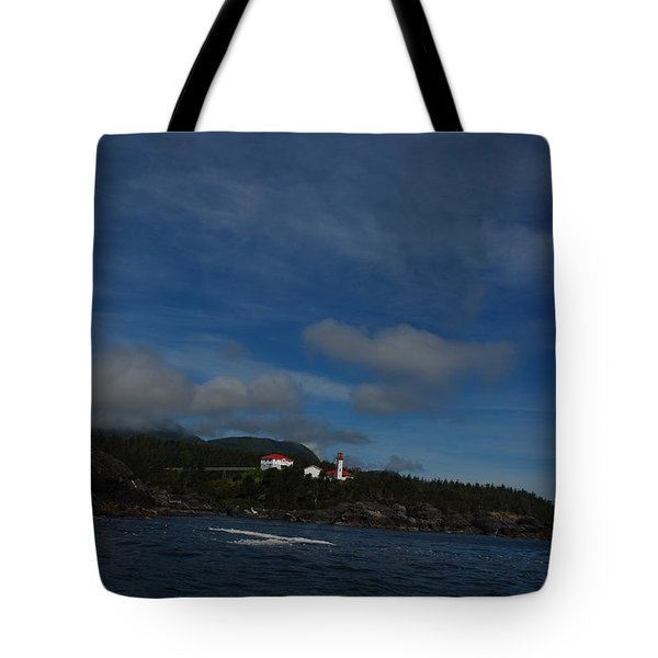 Friendly Cove From A Distance Tote Bag