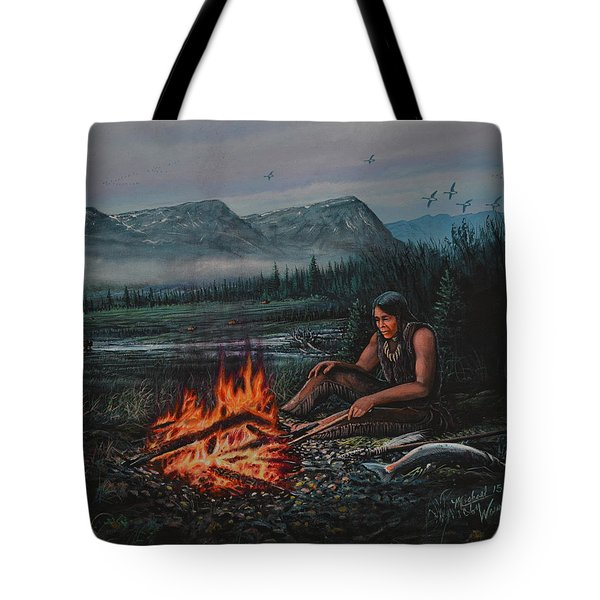 Friendly Fire Tote Bag by Michael Wawrzyniec