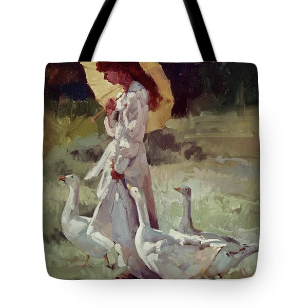Friendly Flock Tote Bag