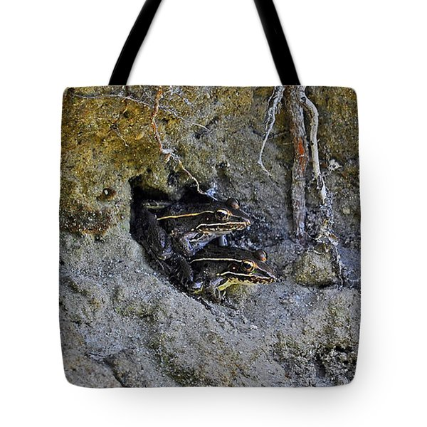 Tote Bag featuring the photograph Friendly Frogs by Al Powell Photography USA