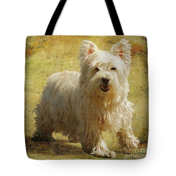 Friendly Smile Tote Bag by Lois Bryan