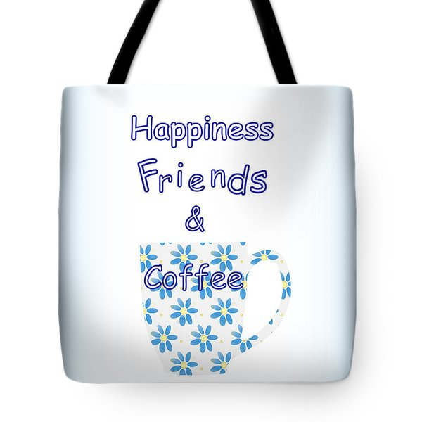 Friends And Coffee Tote Bag by Kathleen Sartoris