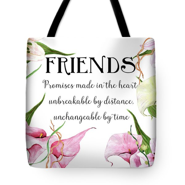 Tote Bag featuring the digital art Friends by Colleen Taylor