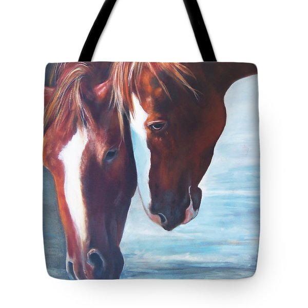 Tote Bag featuring the painting Friends For Life by Karen Kennedy Chatham