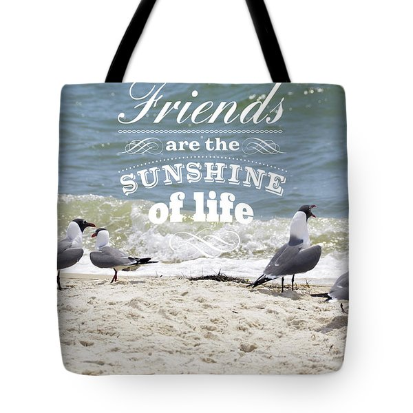 Tote Bag featuring the photograph Friends In Life by Jan Amiss Photography