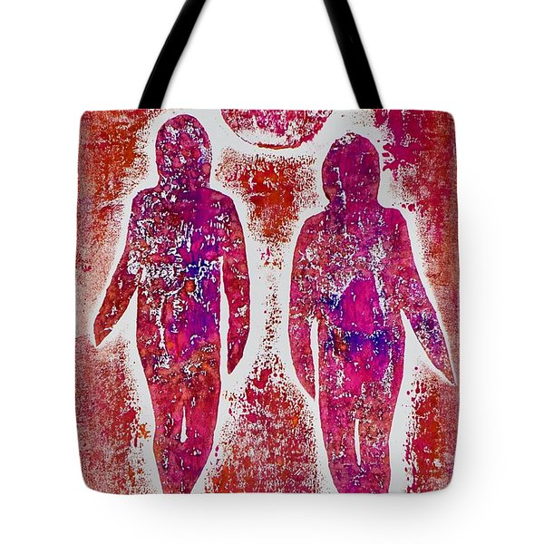 Friends In Pink  Tote Bag