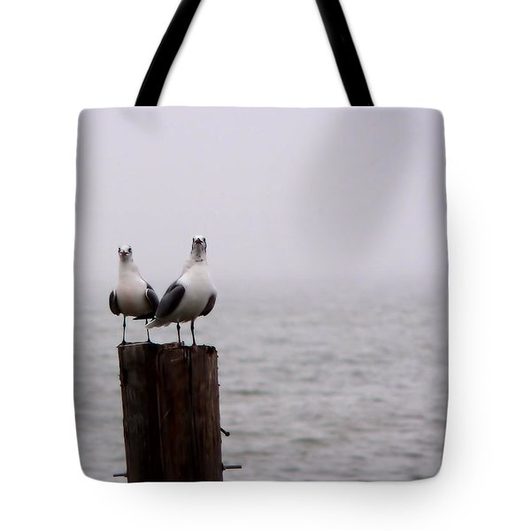 Friends In The Fog Tote Bag