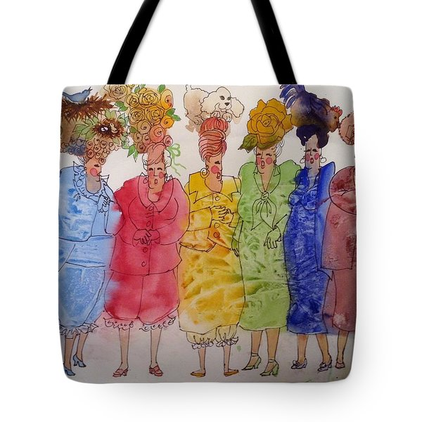 The Crazy Hat Society Tote Bag by Marilyn Jacobson
