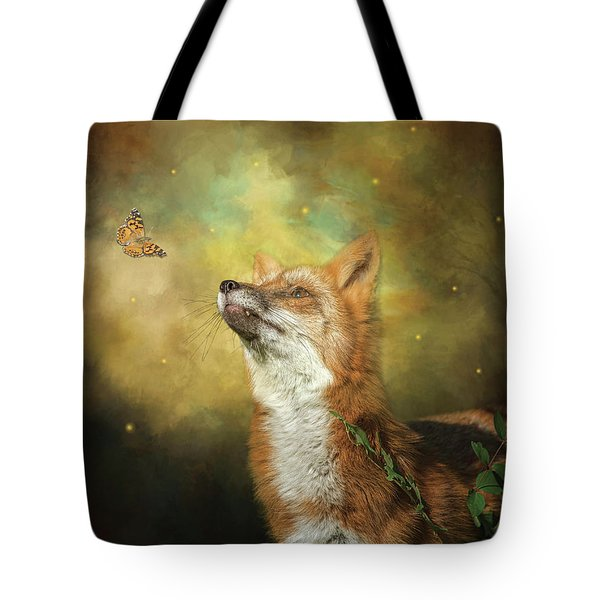 Friends On A Firefly Evening Tote Bag