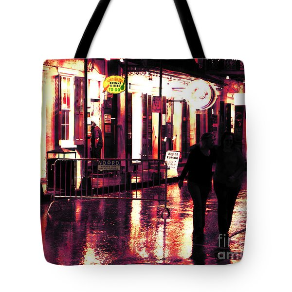 Friends On Bourbon Street Tote Bag by John Rizzuto