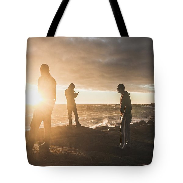 Tote Bag featuring the photograph Friends On Sunset by Jorgo Photography - Wall Art Gallery