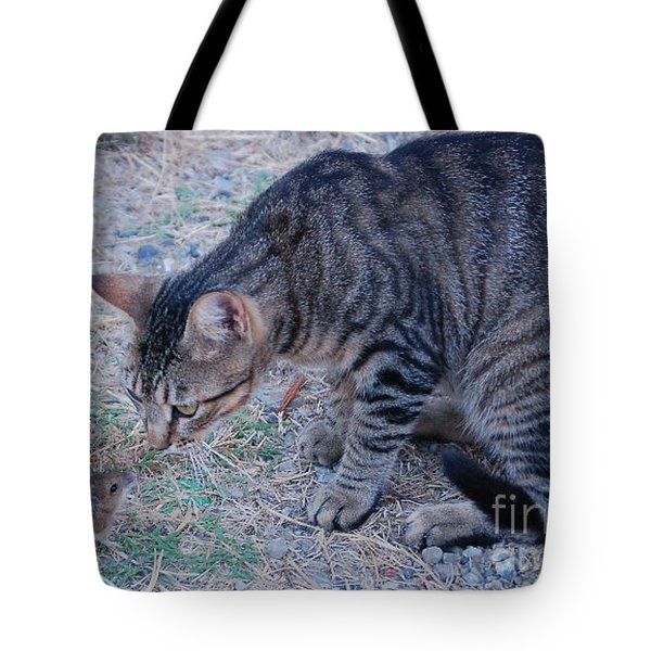Tote Bag featuring the photograph Friends Or Enemies  by Frank Stallone