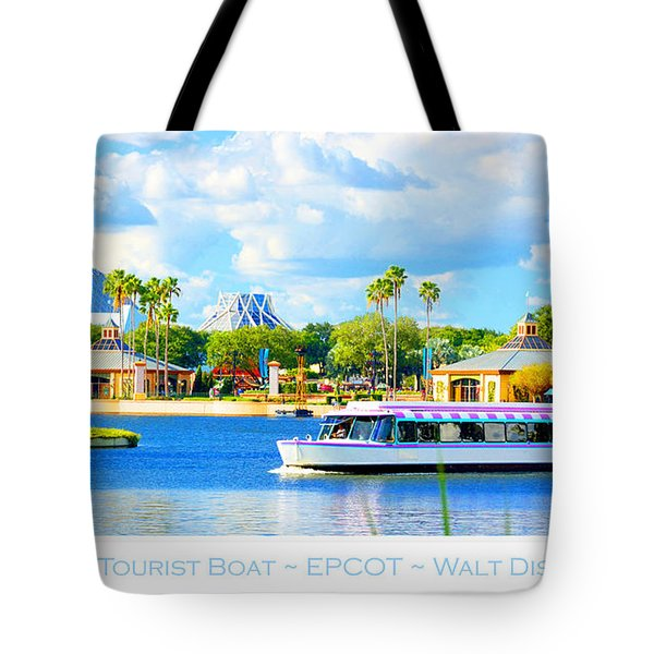 Friendship Boat On The Lagoon Epcot Walt Disney World Tote Bag