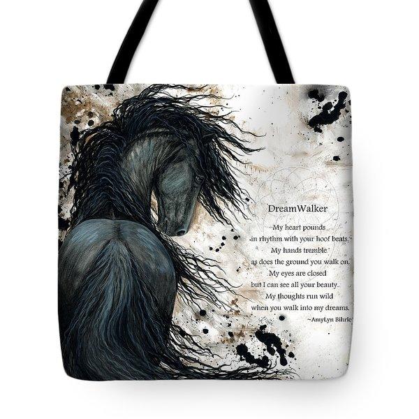 Friesian Dreamwalker Horse Tote Bag