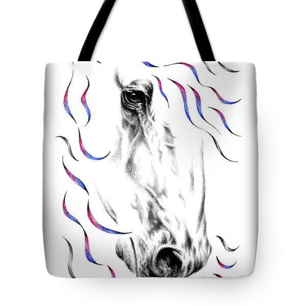 Friesian Horse Nobility Tote Bag
