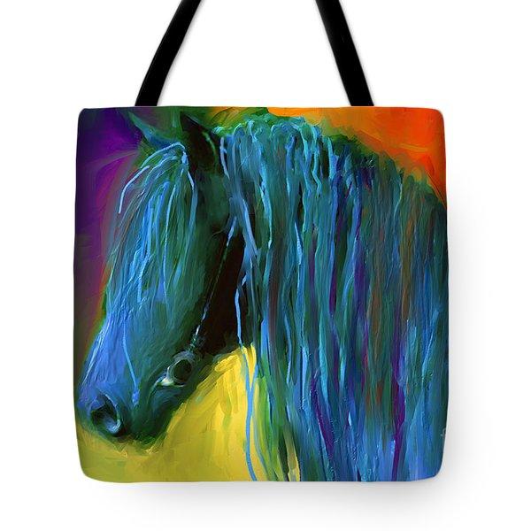 Friesian Horse Painting 2 Tote Bag by Svetlana Novikova