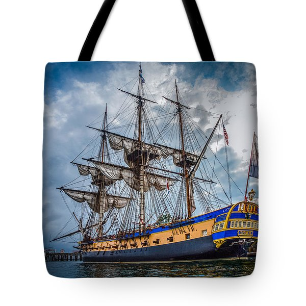 Frigate Hermione 01 Tote Bag by Fred LeBlanc