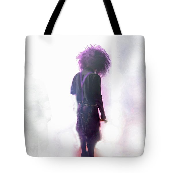 Tote Bag featuring the digital art Frightdome Clown by Walter Chamberlain