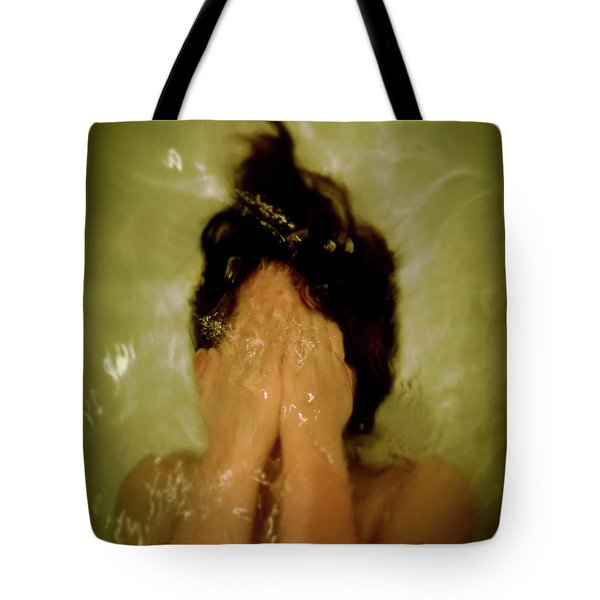 Frightened Young Girl Tote Bag