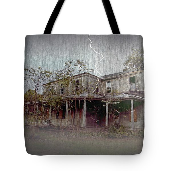 Frightening Lightning Tote Bag by Brian Wallace