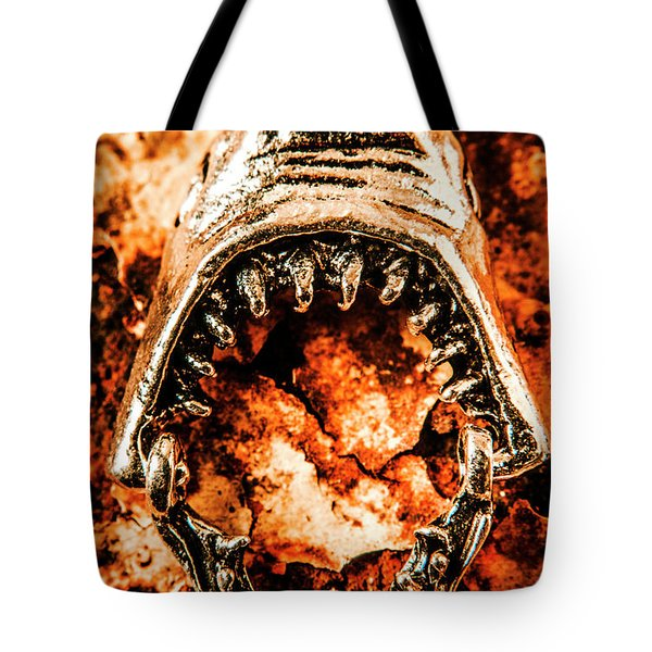 Frightening Marine Scene Tote Bag